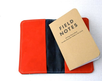 Waxed Canvas Field Notes Book Cover or Wallet