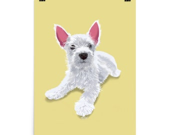 Puppy Love Poster - Yellow