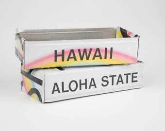 Hawaii license plate box - father's day gift - gift for mom's dad's and grad's - teacher gift - graduation gift - graduation gift box