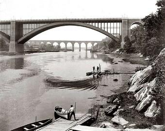 Harlem River 1890's Photo