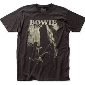David Bowie Guitar Soft Fitted 30/1 Cotton Tee (DB21) Coal