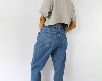 Vintage Lee Jeans Mom Jeans High Waist Jeans Vintage Denim 90s Jeans Womens Jeans Medium Wash Jeans