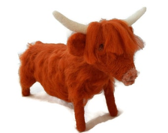 Custom Highland Cow Sculpture, Personalised Cow art, Large sized Sculpture of your pet or Farm Animal