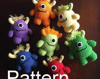 Little Monster Crochet Pattern, Amigurumi Monster, Amigurumi Pattern, Crochet Monster, Crochet Pattern, Craft, Amigurumi, Monster Plush