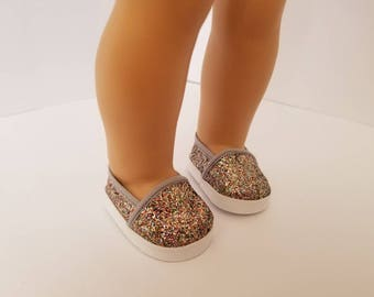 """Sparkle glitter shoes for 18"""" Doll, American Girl doll"""