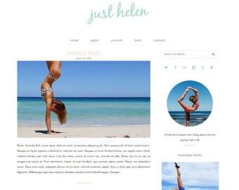 WordPress Theme - Responsive WordPress Template - Lifestyle Blog Template - Clean Minimalist Theme - Genesis Child Theme - Just Helen Theme