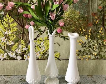 Milk Glass Vase Hobnail Milk Glass Vase Hobnail Vase Wedding Centerpiece Vases for Wedding White Vases Short Vases Party Centerpiece Vases