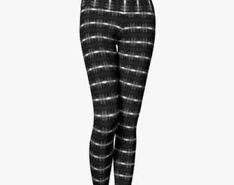 Yoga Leggings - Power Lines Black and White Original Photo