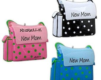New Mom Diaper Bag Personalized Ornament