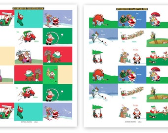 72 Golf Theme Gift Tag Stickers For Presents - Golf Assorted Christmas Stickers - 25103