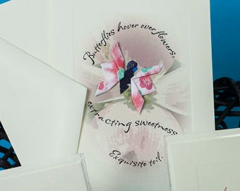 Poetry Takes Flight Origami Greeting Card