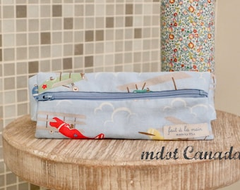 Epipen Case,  Epipen Pouch, Waist pouch, Hip pouch, old fashioned airplane, kids