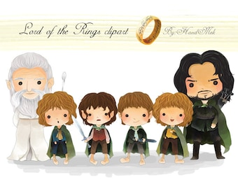 Lord of the Rings , hobbit clipart set 1 Instant Download PNG file - 300 dpi