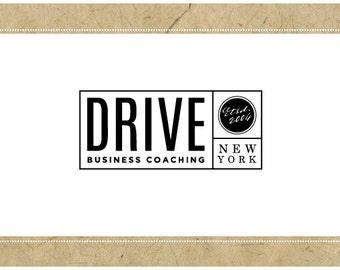 PreDesigned Logo - PreMade Logo - Vector Logo - DRIVE logo - Typography Logo - Vintage Logo - Rectangle Logo -Business Coaching Brand Design