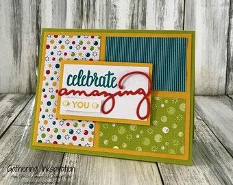 Stampin Up Handmade Greeting Card, Congratulations Card