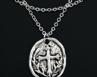 Antique Style Cross Necklace