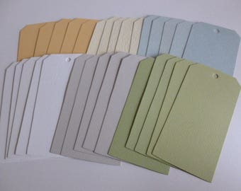 30 journalling tags pastel colours/junk journalling/mixed media/scrapbooking/card making