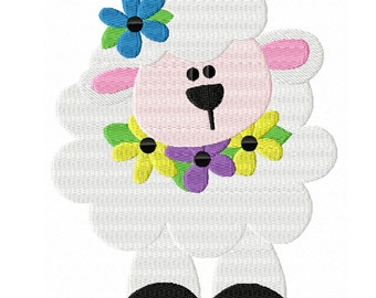 Spring Lamb -A Sweet Machine Embroidery Design for Spring