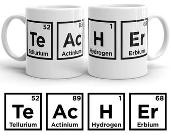 Science Teacher Mug - Science Teacher Gift - Chemistry Teacher Gift - Chemistry Teacher Mug - Periodic Table Mug Science Teacher Coffee Mug