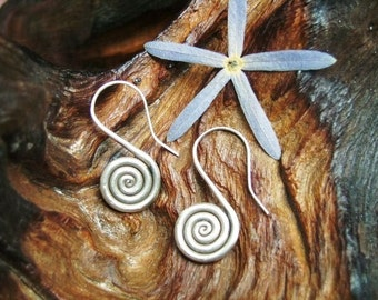 Silver Earrings - The Spiral of Life (5)