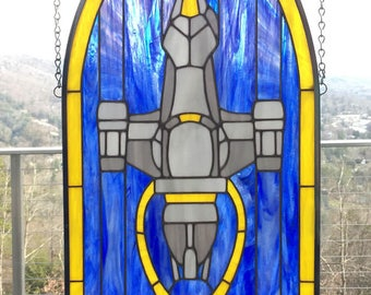 Firefly (Serenity)  - Original Stained Glass Panel