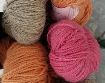 Biota Yarns' - Natural dyed - Peace fleece dk weight wool blend yarn, cochineal and madder root