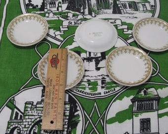 FIVE English J & G Meakin Hanley England  butter pat dishes