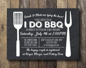 I Do Barbecue Invitation - Engagement Party Invitation - Printable I Do Barbecue - I Do BBQ Invitation - I Do BBQ Engagment party
