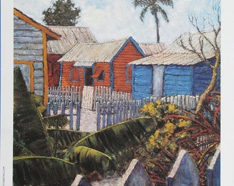 Tin Roofs and Clapboard -  Bahamian art print by Ritchie Eyma
