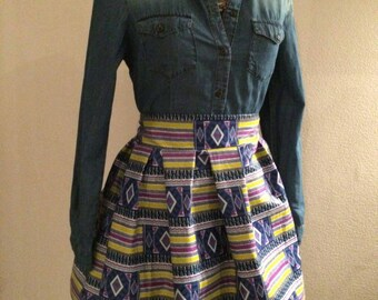African print skirt - Temporarely only in main-colour orange!