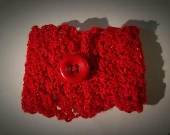Crocheted cuff bracelet