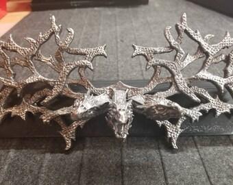 Daenerys Three Dragon Chest Piece - Targaryen Dragon Necklace - Winged Necklace