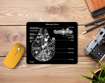 Millennium Falcon Mousepad ,Star wars,Personalized Computer Mouse Mat, Office Decor, Work Pad Mat, Computer Accessories, Mouse,Darth Vader