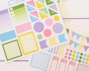 70 Pastel Dots Themed Planner Sticker Set- Pastel Dots Color Scheme Sticker Set- perfect in your Erin Condren planner, calendar or scrapbook