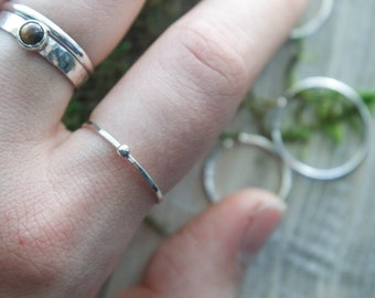 Silver Dot stacking ring | Dainty ring band | Silver ring band | Silver stacking ring | Silver ring | Ball ring band | Silver accent ring