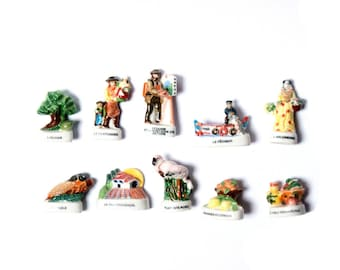 Collection of beans under the Sun of Provence, set of 10 beans characters and landscapes of the South of France, retirement gift, Epiphany