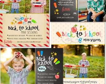 INSTANT DOWNLOAD - Back To School Marketing board Bundle Photoshop  Templates - MA238B