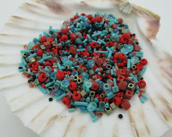Southwest Seed Bead Mix, Assorted Colors Seed Beads, 50 grams