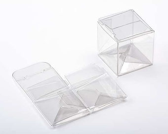 25 Premium Crystal Clear Little CUBE Boxes 2 Inches Square for Gifts, Retail Packaging, Favors, Can Be Embellished