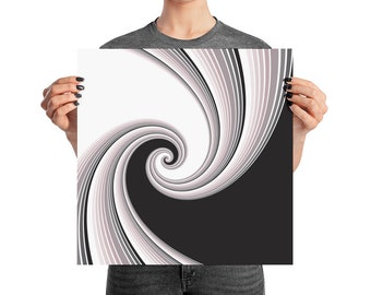 "Poster Abstract Optical Illusion ""Away"" Swirl"