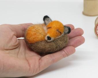 Needle Felted Fox Miniature