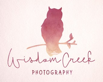 Premade Owl Logo - Customized with Your Name