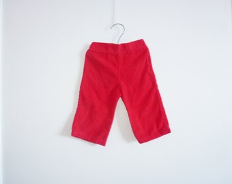 Vintage Red Corduroy Baby Pants