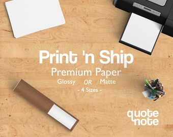 ADD ON ITEM** Premium Printing - Glossy or Matte