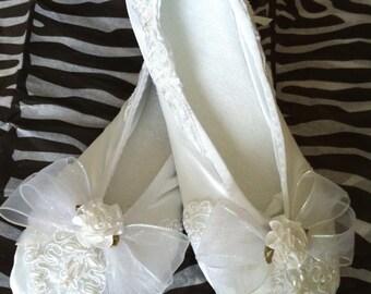 Satin Bridal Ballet Slippers