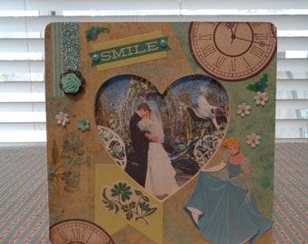 Cinderella Mixed Media Wood Frame