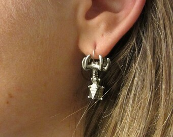 Bacteriophage Earrings - Virus Earrings, Microbiology, Cell Biology, Virus Jewelry, Phage, Biology Jewelry