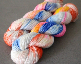 "Otter - ""Firecracker"" - 75/25 Sock Yarn"