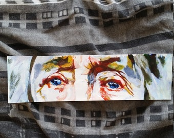 Old lady's eyes acrylic painting
