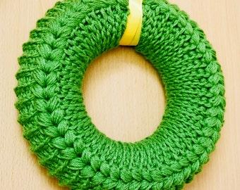 Crochet pattern, wreath, crochet wreath, summer wreath with a chart